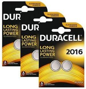 Батарейки DURAСELL плоские литиевые 3V CR-2016 (2шт) 0157332