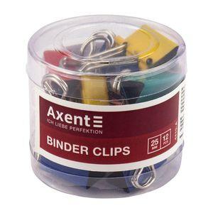 Биндер цветной 25 мм туба (12шт) ассорти Axent 4410-A