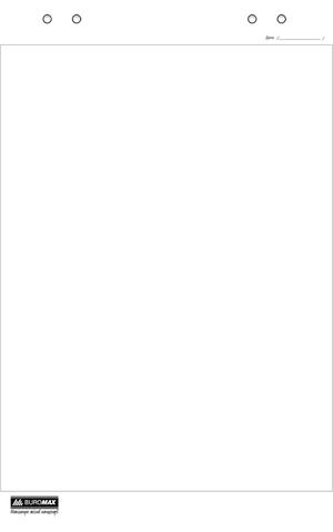 Блок бумаги для флипчартов 30 листов 64х90см Buromax BM.2298-00