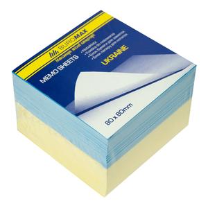 Блок бумаги для заметок Украина 80х80х60л., не склеенный Buromax BM.2274