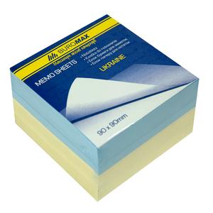 Блок бумаги для заметок Украина 90х90х60л., склеенный Buromax BM.2287