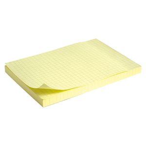 Блок бумаги с липким слоем 100x150 мм 100 л Delta D3330 желтый
