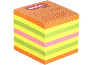 Блок бумаги с липким слоем 50х50 мм 400л неон микс Kores K48460