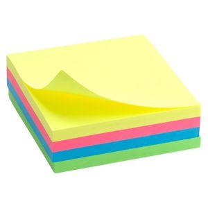 Блок бумаги с липким слоем 75x75 мм 250л неон Delta D3351