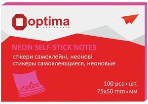 Блок бумаги для заметок с клейким слоем 75х50 мм Optima O25512