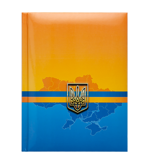 Блокнот А-5 UKRAINE 80 листов, клетка, тв. обл., глян. лам. с поролоном Buromax BM.24582101