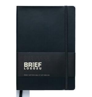 Блокнот деловой А5 BRIEF LOGO2U 96 листов, клетка, обложка искусственная кожа Buromax BM.295104