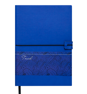 Блокнот деловой А5 TRAVEL LOGO2U 96 листов, клетка, обложка искусственная кожа Buromax BM.29521102