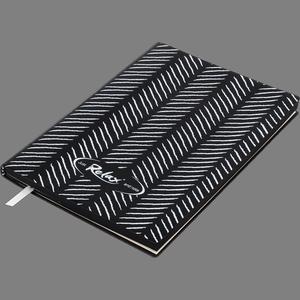 Блокнот деловой RELAX А5, 96л., линия, обложка искуств. кожа Buromax BM.295201