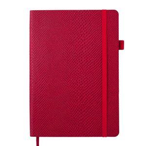 Блокнот деловой WILD, А5, 96 л., клетка, красный, искусственная кожа, BUROMAX BM.295116-05