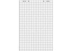 Блокнот для флипчарта 20 листов 64х90см клетка 70г/м2 Optima O75307