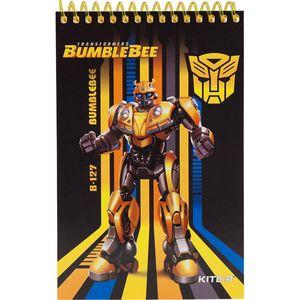 Блокнот пластиковый А6 48 листов нелинованный Transformers BumbleBee Movie Kite TF19-196