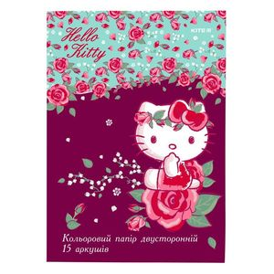 Бумага цветная двусторонняя A4 15 листов/15 цветов Kite HK19-250