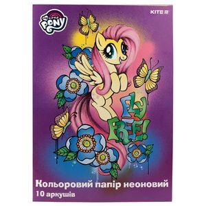 Бумага цветная двусторонняя неоновая A4 10 листов/5 цветов Kite My Little Pony LP19-252