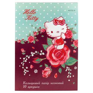 Бумага цветная двусторонняя неоновая A4 10 листов/5 цветов Hello Kitty Kite HK19-252