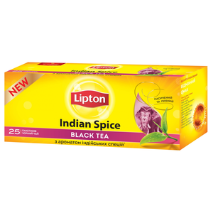 Чай черный Lipton Indian Spice 25*2г/уп