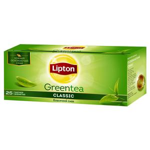Чай зеленый Lipton Classic байховый 25*1,7г/уп