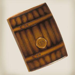 Ежедневник формат А5, натуральная кожа Бочка, Foliant