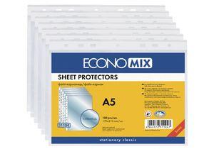 Файл А5 30 мкм глянец (100 шт) Economix E31104