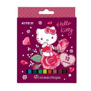 Фломастеры 12 цв Hello Kitty Kite HK19-047