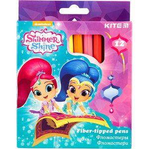 Фломастеры Shimmer&Shine 12 шт Kite SH18-047