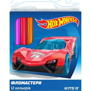 Фломастеры набор 12 шт Hot Wheels Kite HW19-047