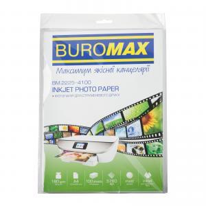 Фотобумага матовая, А4, 180 г/м2, 100 листов, BUROMAX BM.2225-4100