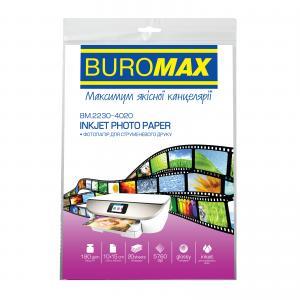 Фотобумага глянцевая А4, 180 г/м2, 20 листов BUROMAX BM.2220-4020