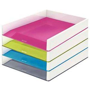 Горизонтальный лоток для документов Leitz WOW, двухцветный 536110