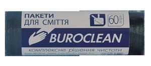 Пакеты для мусора черные, 60 л, 20 шт, BuroClean, 10200031