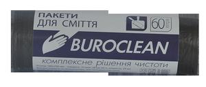 Пакеты для мусора черные, 60 л, 40 шт, BuroClean, 10200035