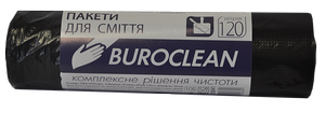 Пакеты для мусора черные, 120 л, 10 шт, BuroClean, 10200041