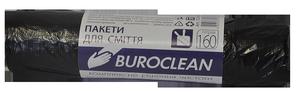 Пакеты для мусора черные, 160 л, 10 шт, BuroClean, 10200051