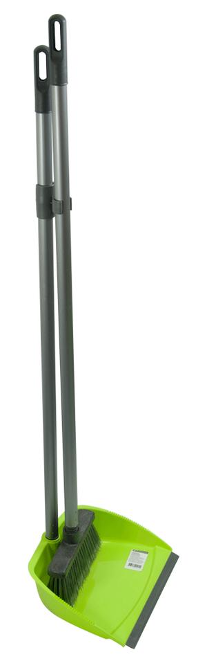 Комплект совок+щетка на длинной ручке BuroClean 10300501
