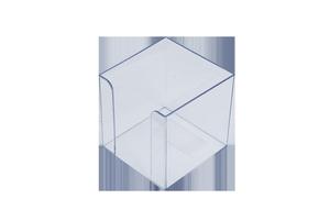 Бокс для бумаги 90х90х90мм прозрачный 83032 Арника