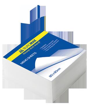 Блок бумаги для заметок белый 80х80х20 мм несклеенный Buromax BM.2207