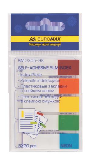Закладки пластиковые Buromax BM.2305-98