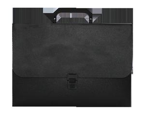 Портфель пластиковый на застежке JOBMAX черный Buromax BM.3735-01