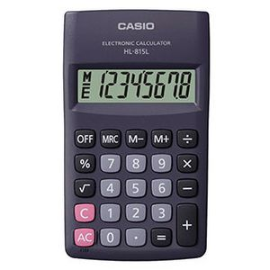 Калькулятор карманный 8-разрядный Casio HL-815L-BK