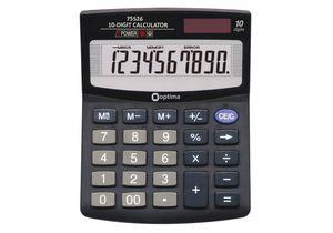 Калькулятор настольный 10 разрядов Optima O75526