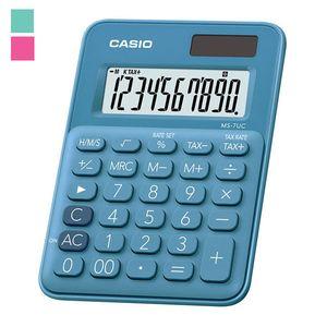 Калькулятор настольный 10-разрядный Casio MS-7UC-BU-S-EC голубой