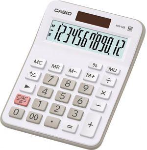Калькулятор настольный 12-ти Casio MX-12B-W, белый 147х106.5х29 мм