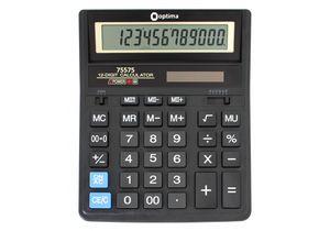 Калькулятор настольный бухгалтерский 12 розр Optima O75575