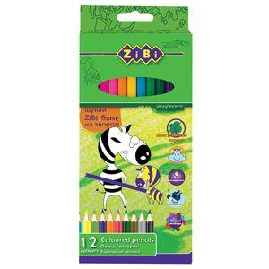 Карандаши цветные 12 PROTECT Zibi ZB.2430