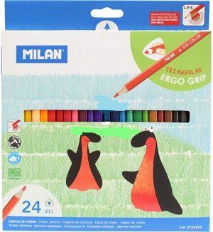 Карандаши цветные 24 Milan ml.0722324