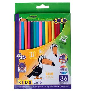Карандаши цветные 36 KIDS LINE ZiBi ZB.2417