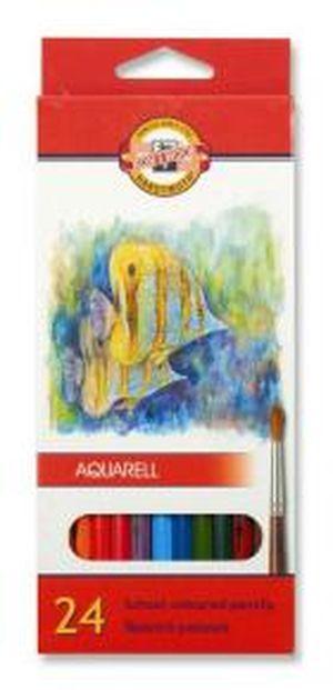 Карандаши цветные акварельные 24 Koh-i-Noor Mondeluz Рыбки 3718_р