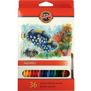 Карандаши цветные акварельные 36 Koh-i-Noor Mondeluz Рыбки 3719_р