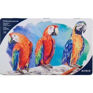Карандаши цветные акварельные мет. пенал 36 шт. Kite K18-1054