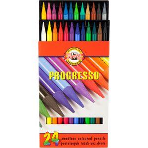 Карандаши цветные бездревесные 24 Progresso Koh-i-Noor 875802